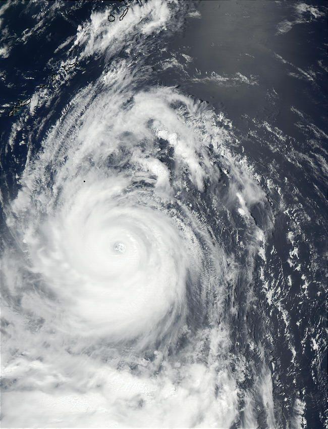 Typhoon Chataan (08W) South of Japan