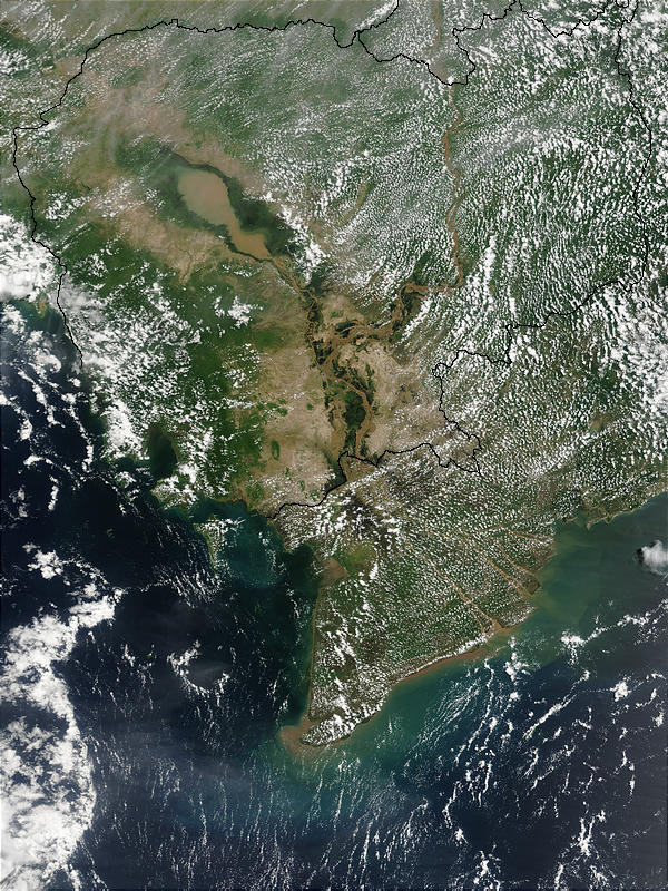 Flooding of the Mekong in Cambodia and Vietnam