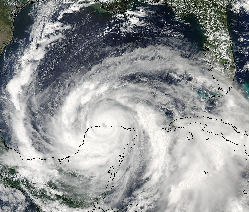 Hurricane Isidore over Yucatan Peninsula
