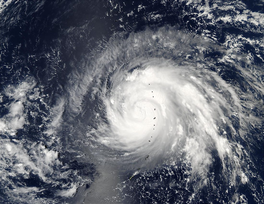 Typhoon Higos over Mariana Islands, Pacific Ocean