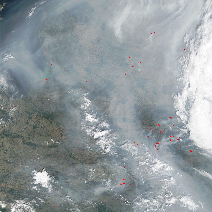 Fires and Smoke in North Central Europe