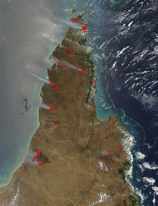 Fires in Queensland Australia