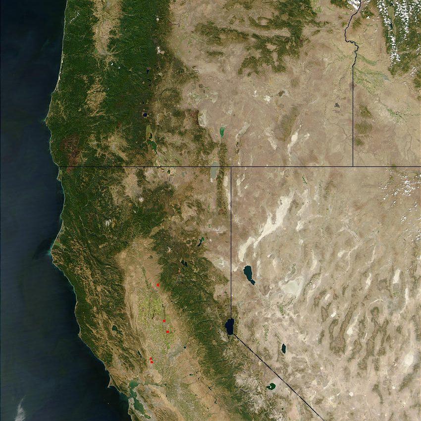 Oregon and California