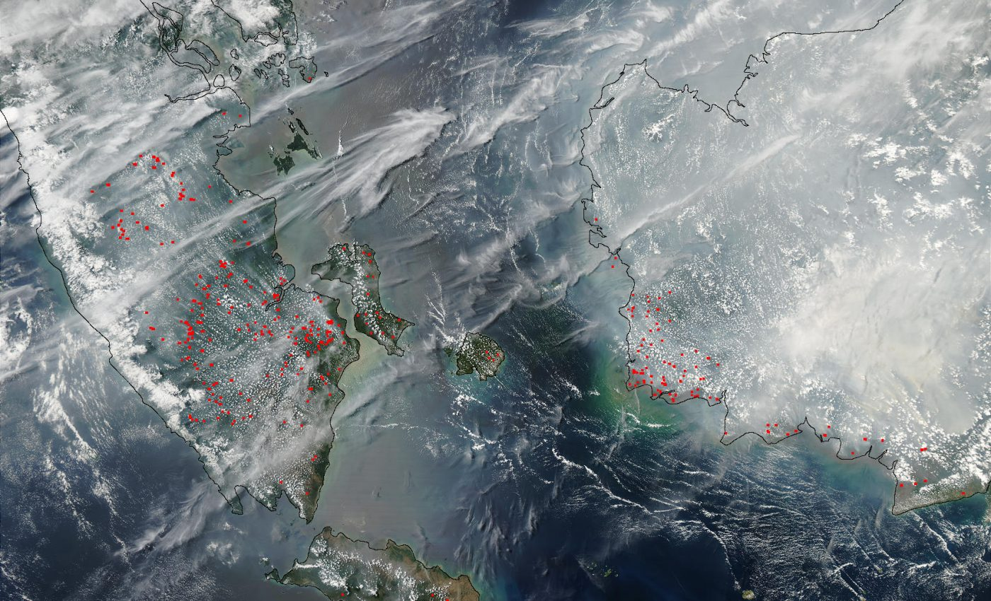 Fires and Smoke in Malaysia and Borneo