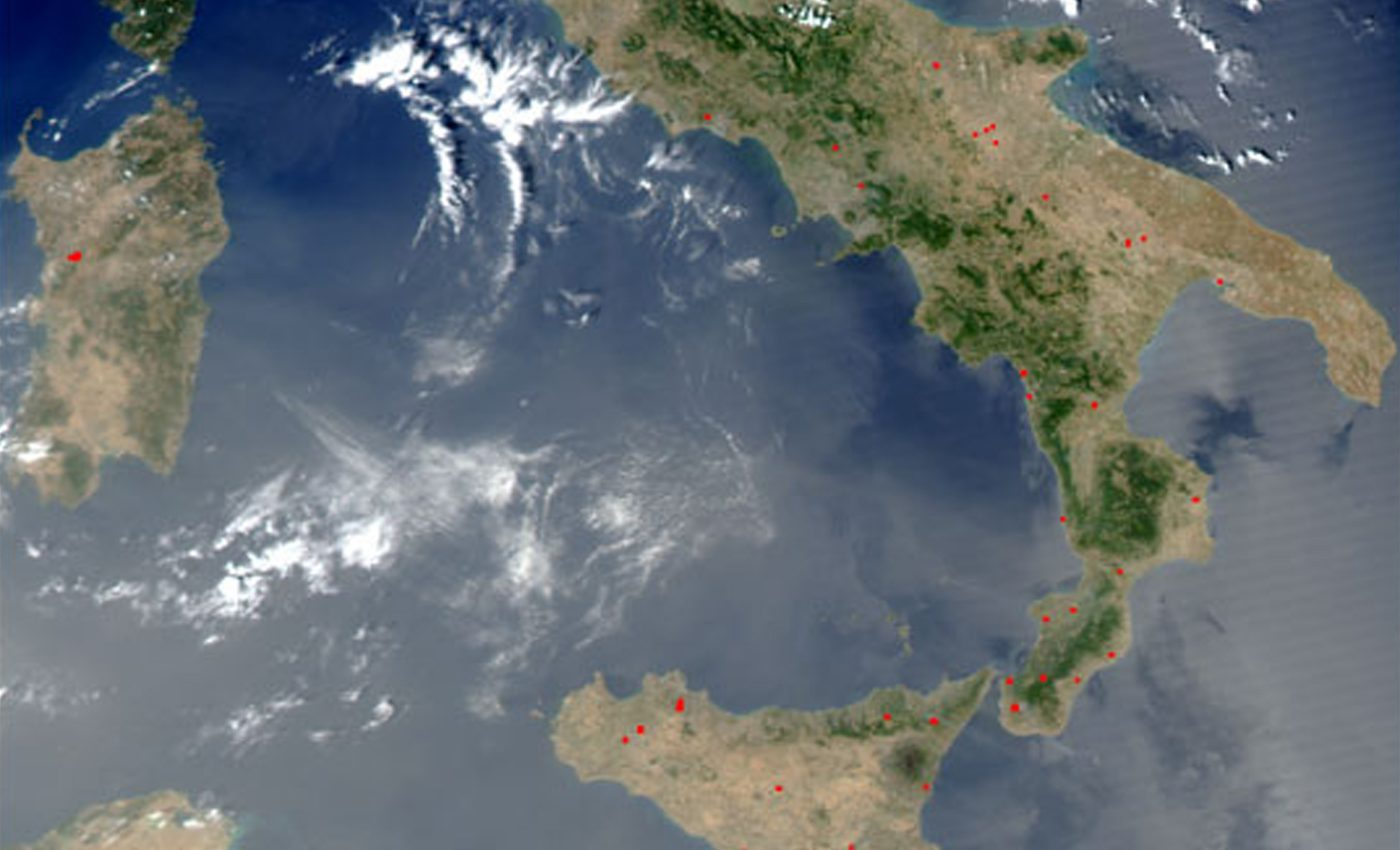 Fires in Southern Italy