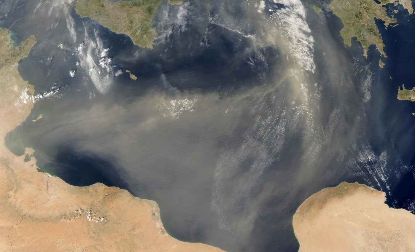 Saharan Dust off Libya and Tunisia