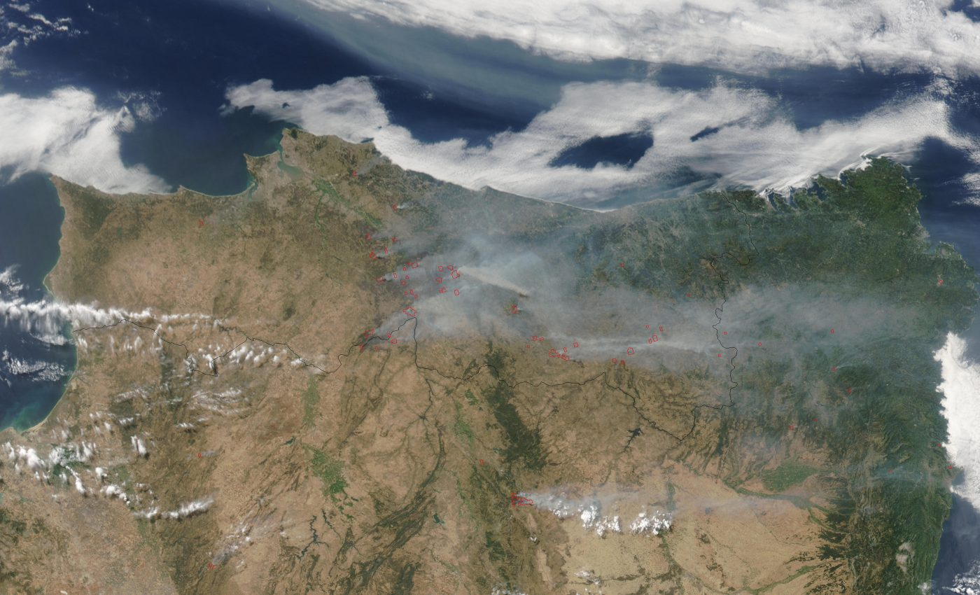 Fires and Smoke Across Portugal