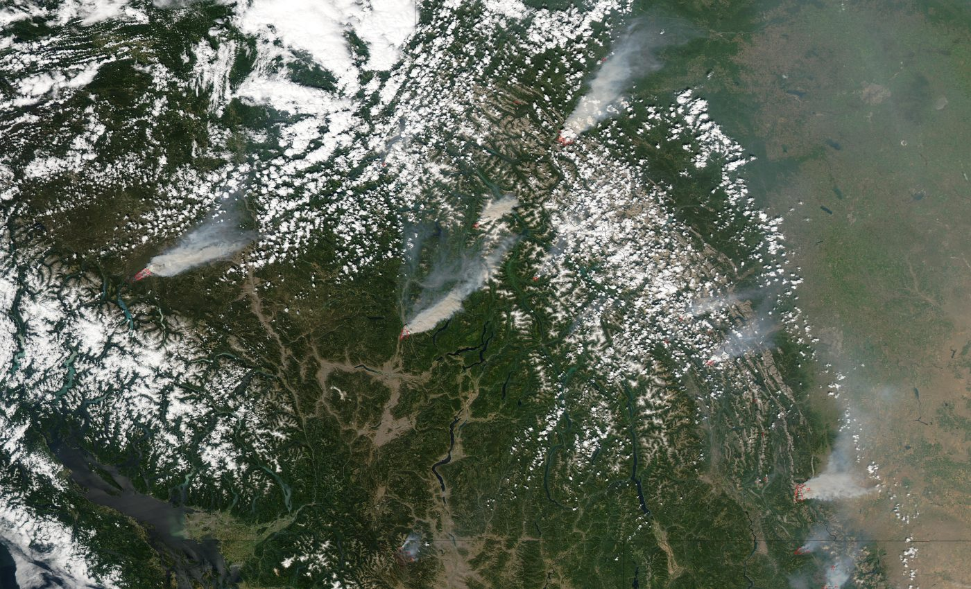 Fires and Smoke Across British Columbia and Alberta