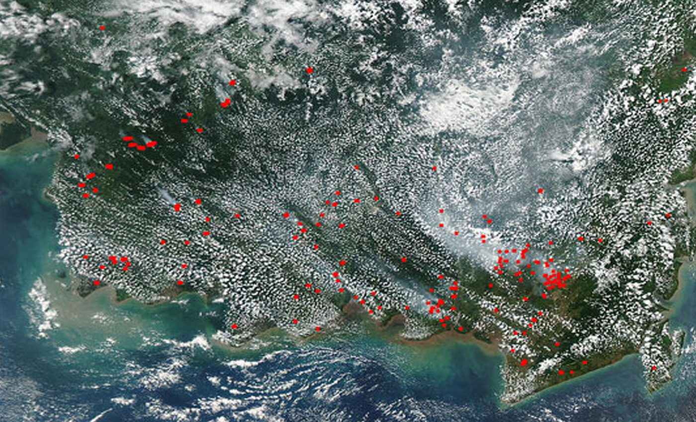 Fires in Southern Borneo