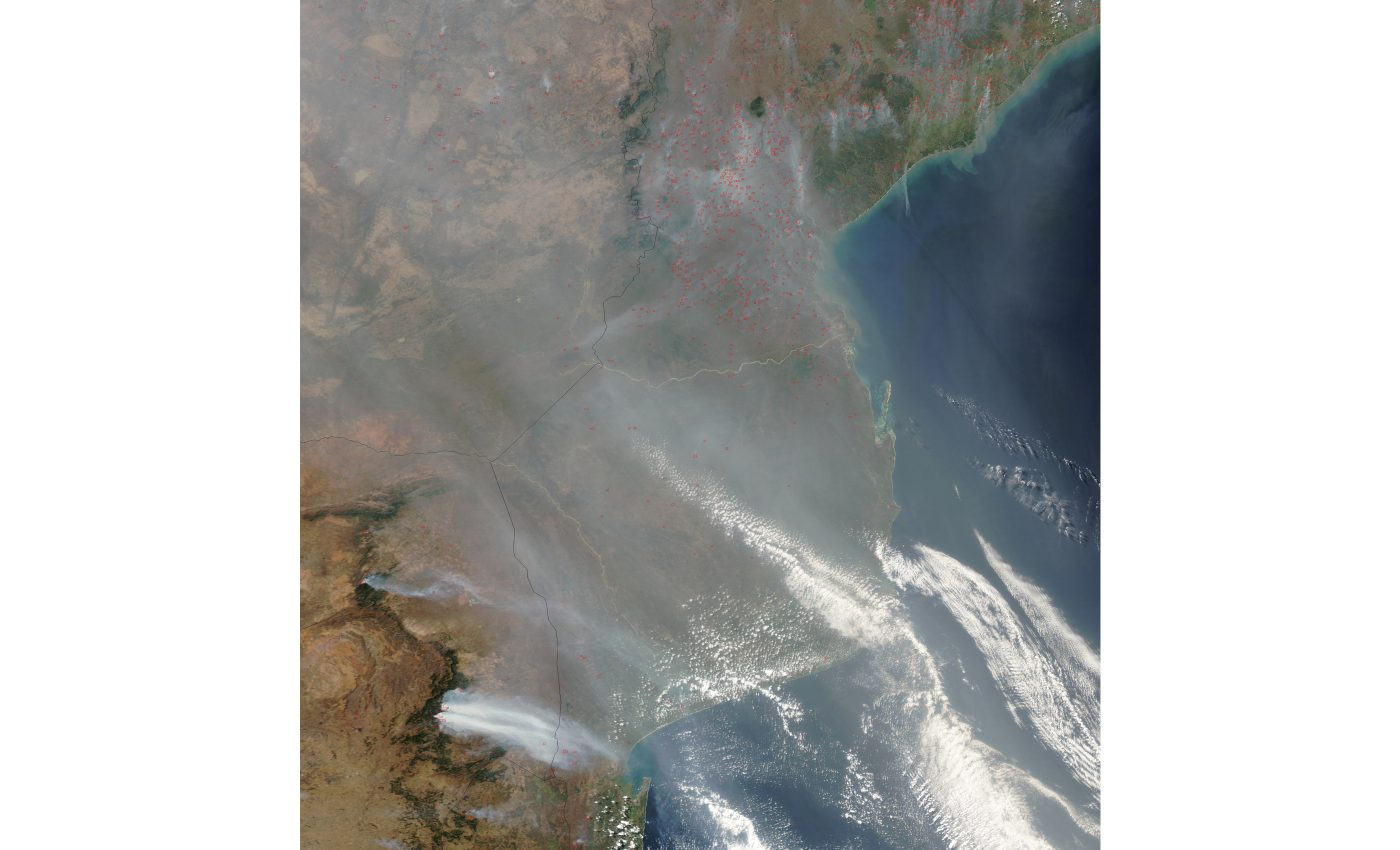 Fires and Smoke in Mozambique and South Africa