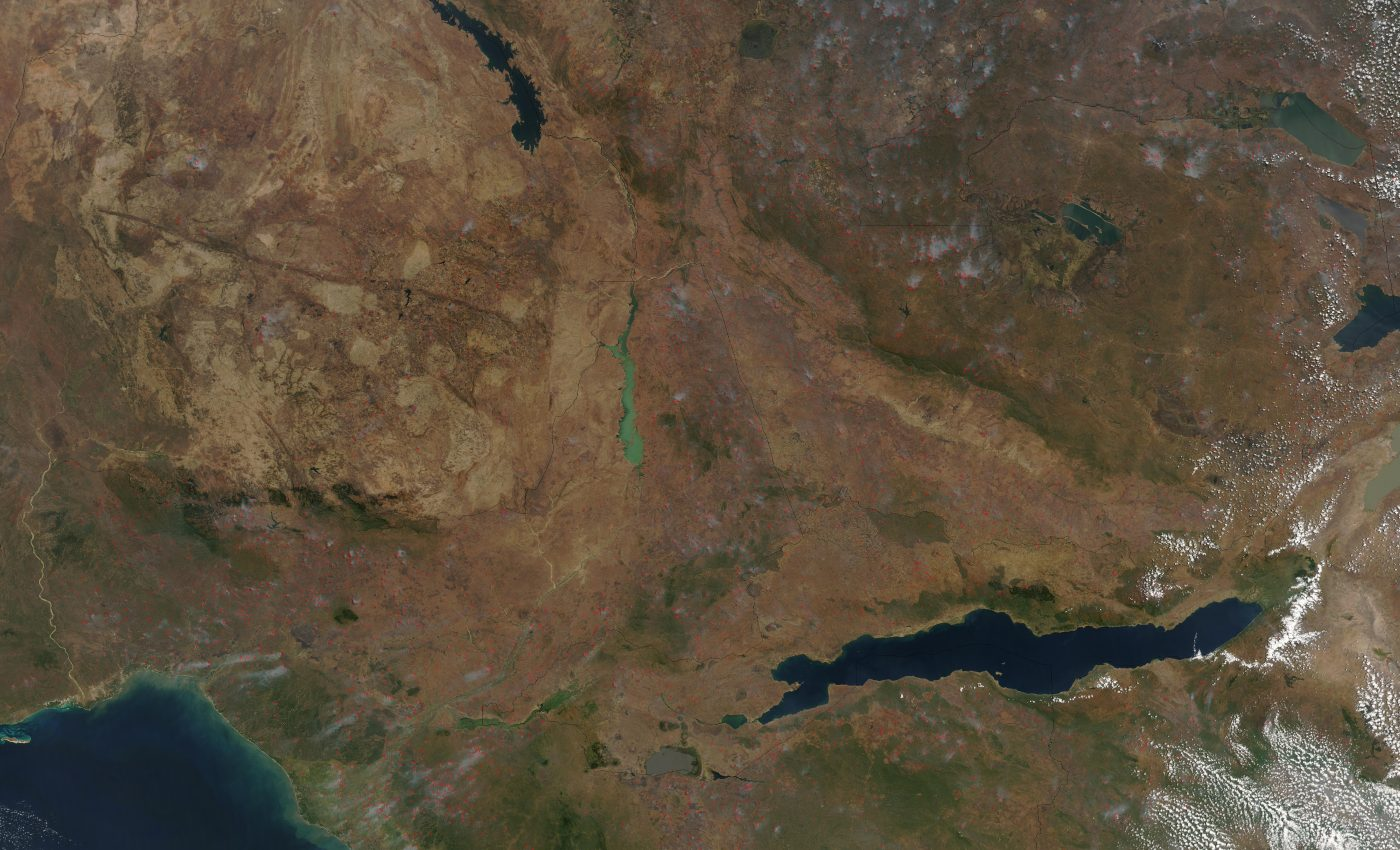 Fires and Smoke in East Africa