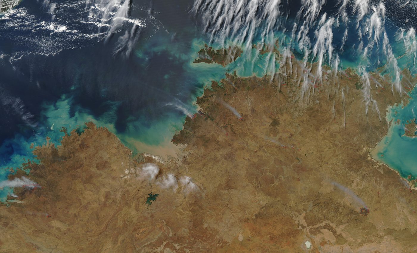 Fires in North Central Australia
