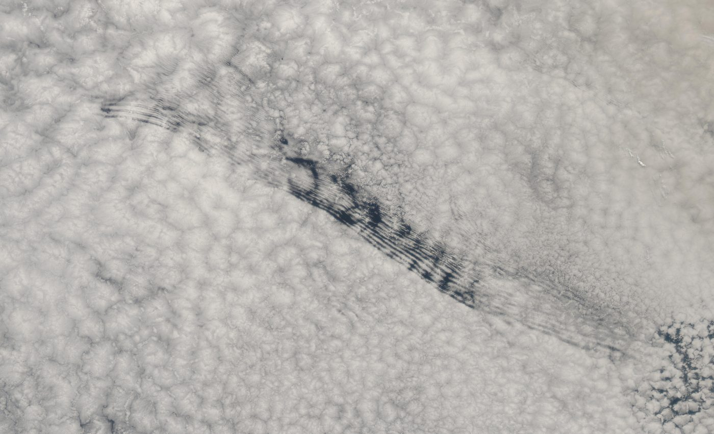 Unusual Cloud Formation in the South Atlantic