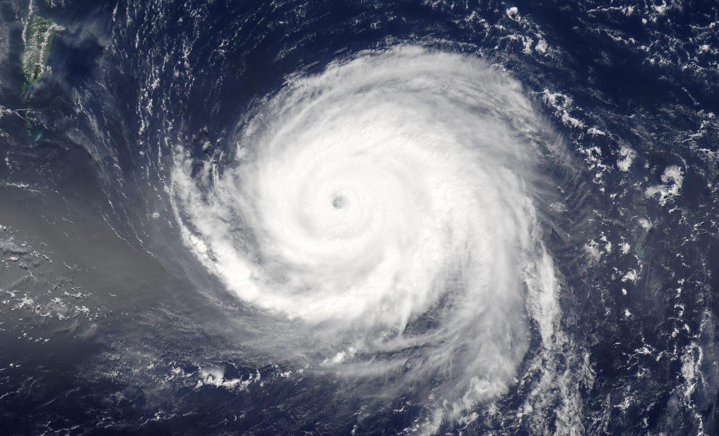 Hurricane Fabian South of Bermuda