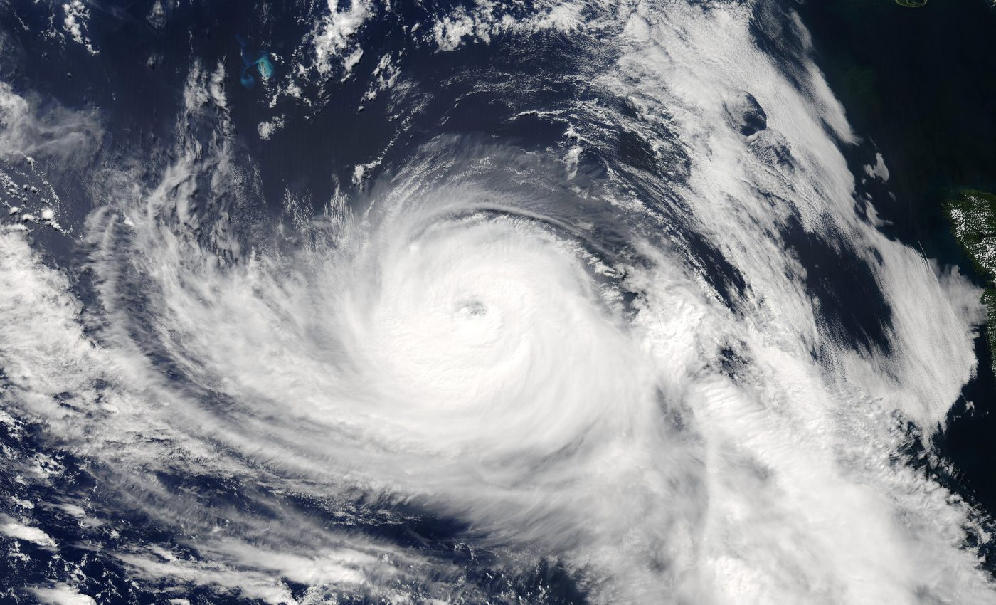 Hurricane Fabian Northeast of Bermuda