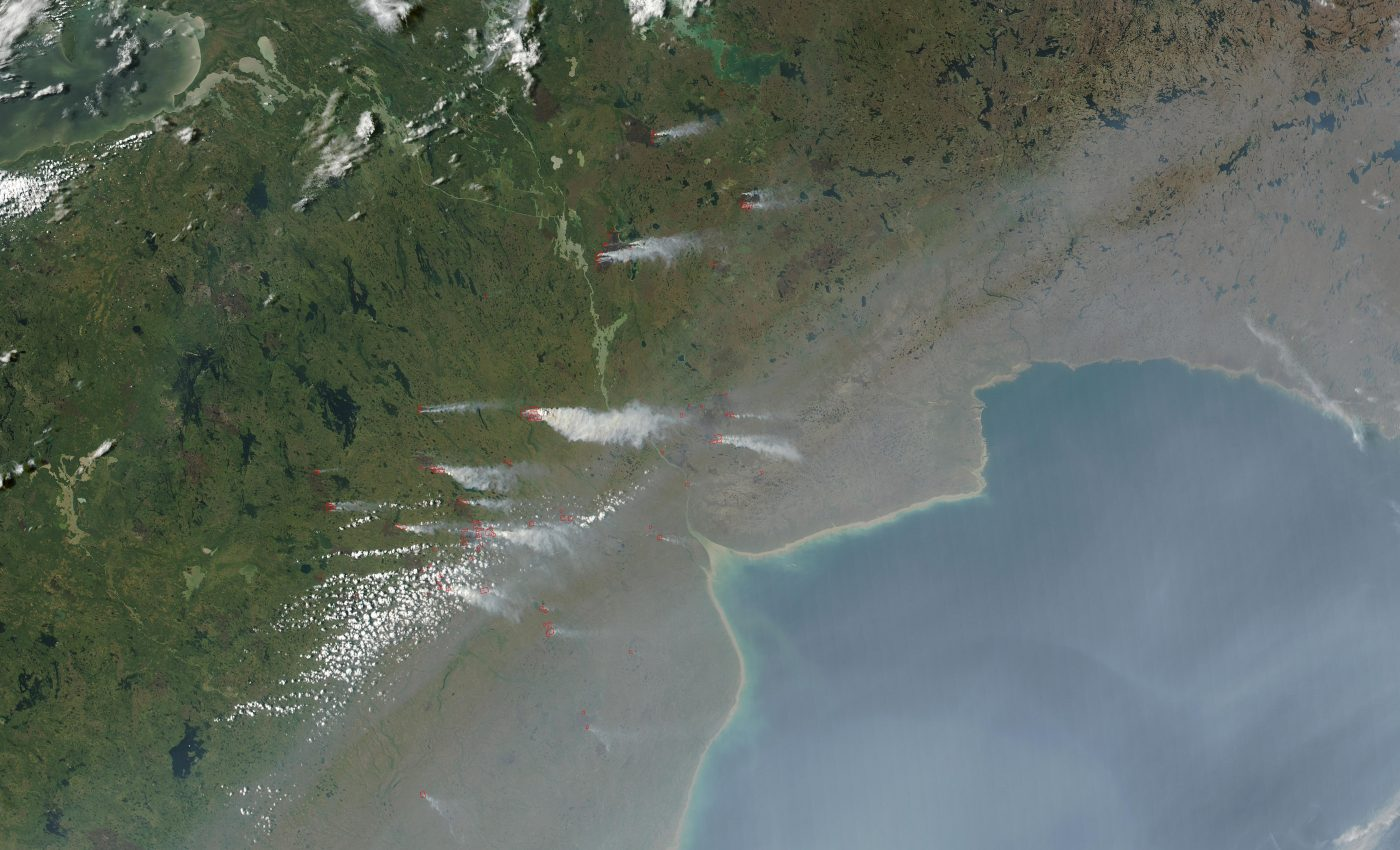 Fires and Smoke in Manitoba, Canada