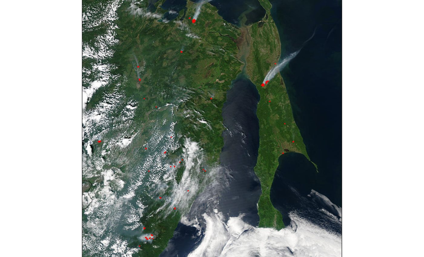 Fires in Eastern Russia and Sakhalin Island