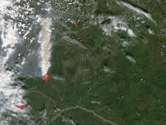 Fires in Northeast Alaska and Canada