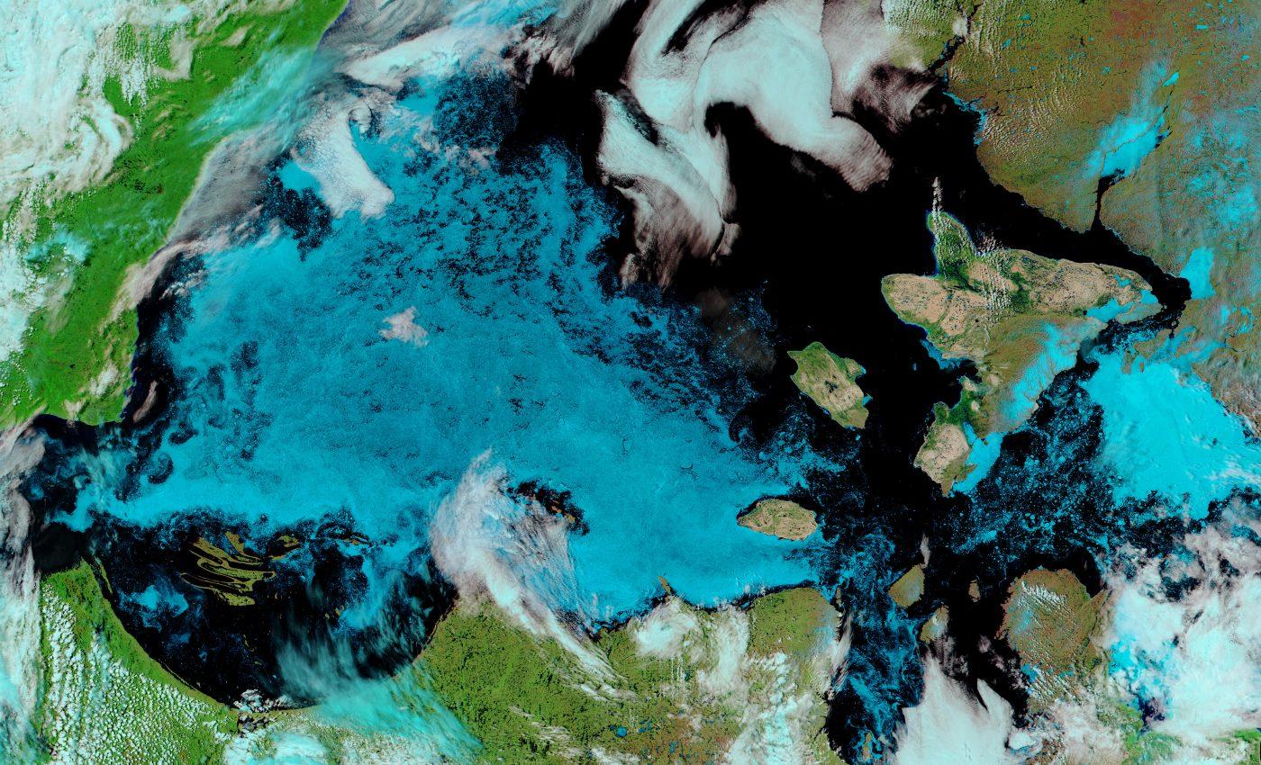 Melting Ice Across Hudson Bay Canada