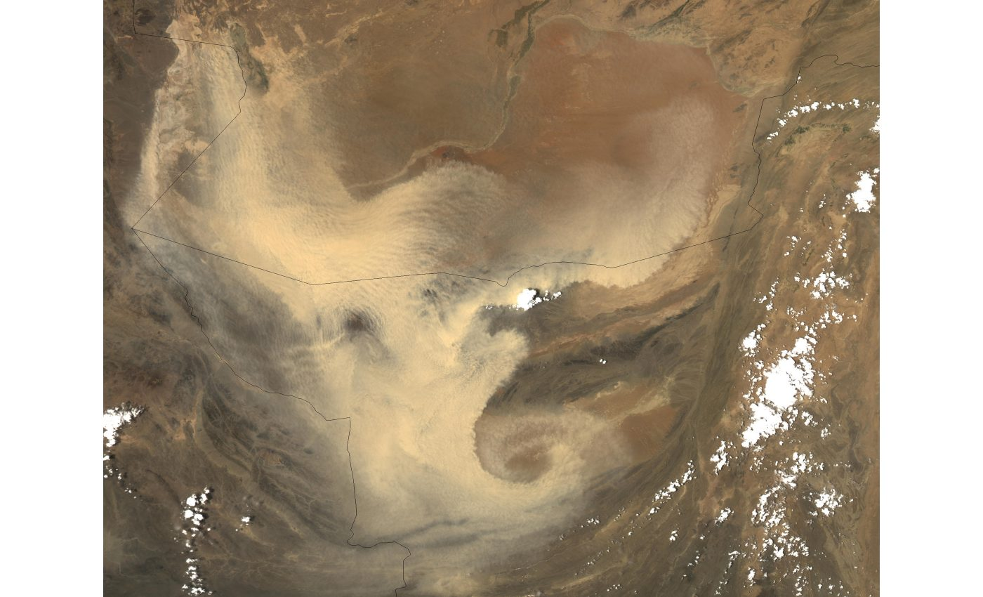 Dust Storm in Pakistan and Afghanistan