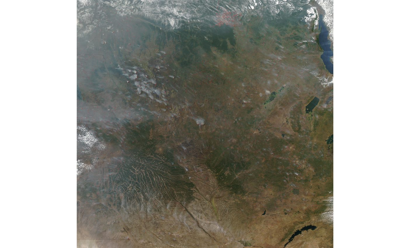 Fires in Angola, The Democratic Republic of the Congo, and Zambia