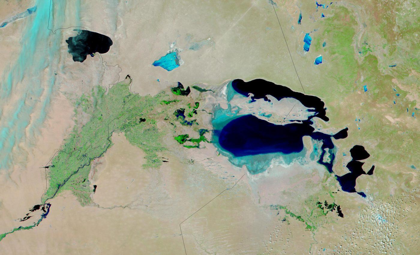 Aral Sea (False Color)