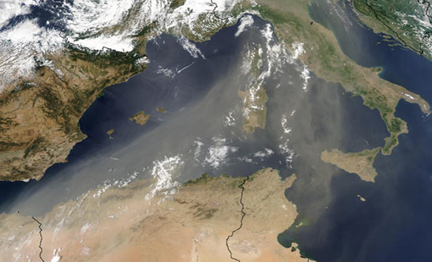 Saharan Dust over Italy
