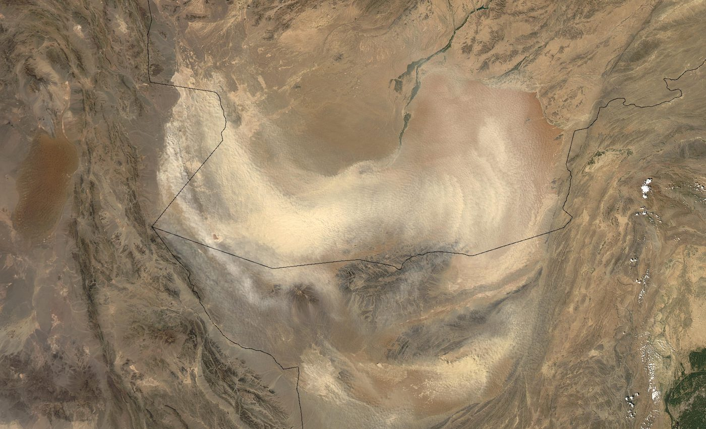 Dust Storms Over Afghanistan and Pakistan