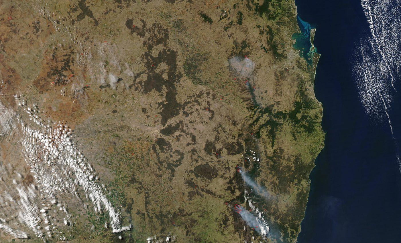 Fires Along Australia East Coast