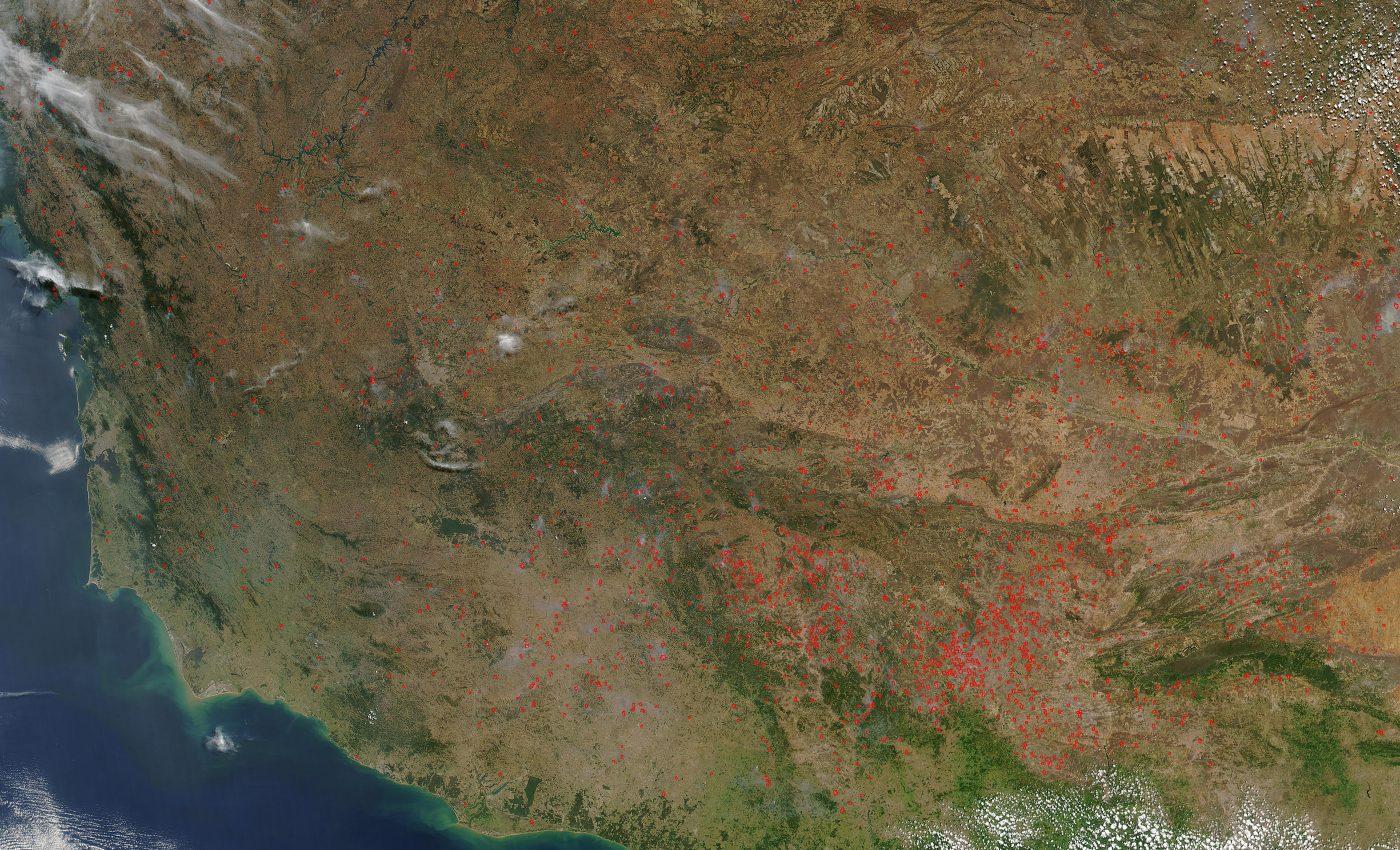 Fires Across Eastern Brazil