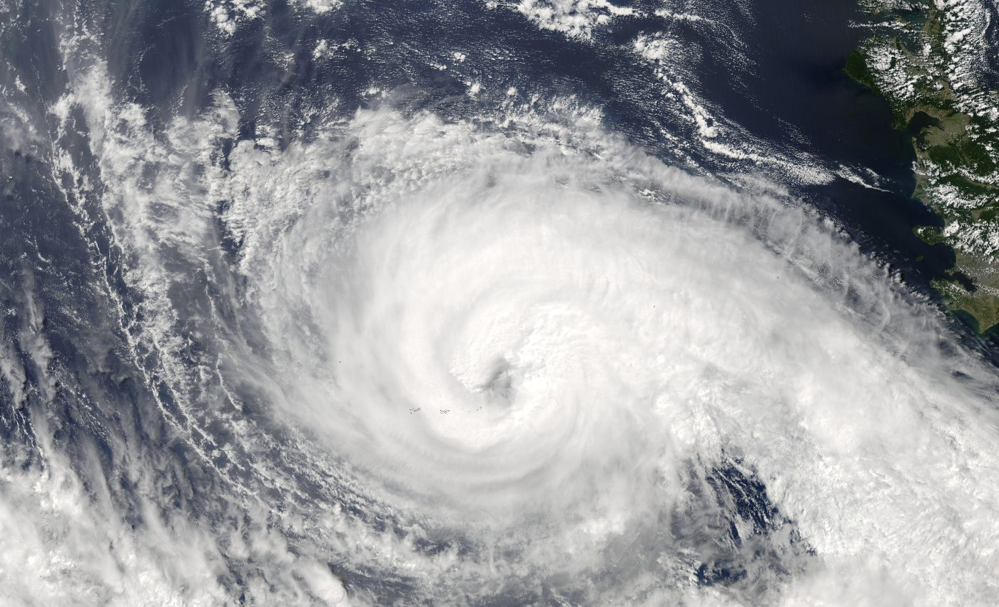 Typhoon Koppu (17W) South of Japan