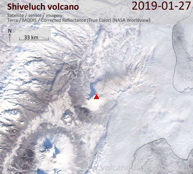 Shiveluch Volcano Erupts