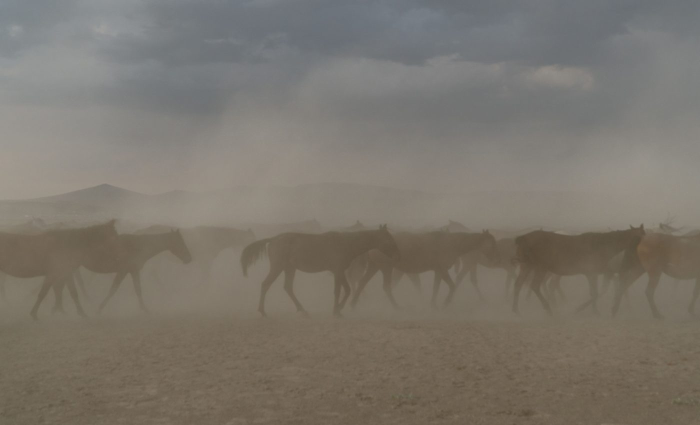 Dust storm in Taklimakan