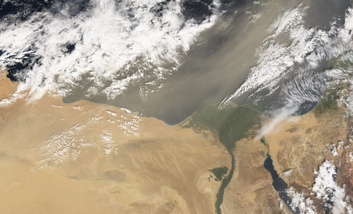 Dust Storm in Egypt and Libya