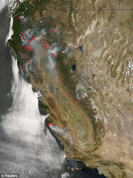Cachuma Fire in California
