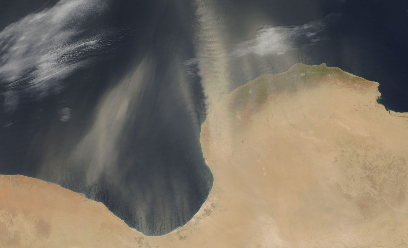 Dust Over the Gulf of Sirte