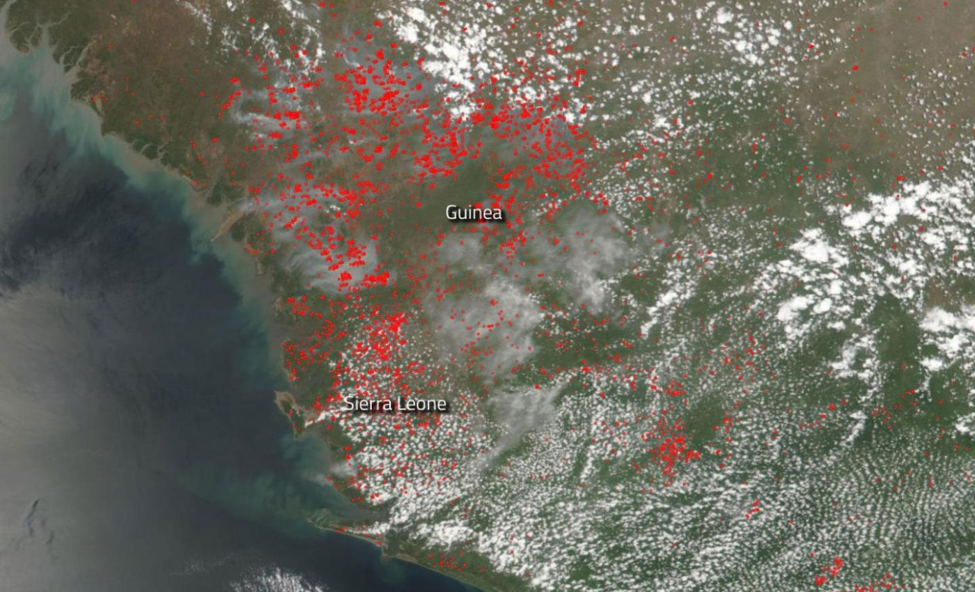 Fires in Sierra Leone