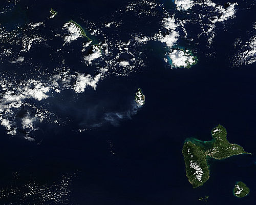 Ash Plume From Soufreire Hills Volcano
