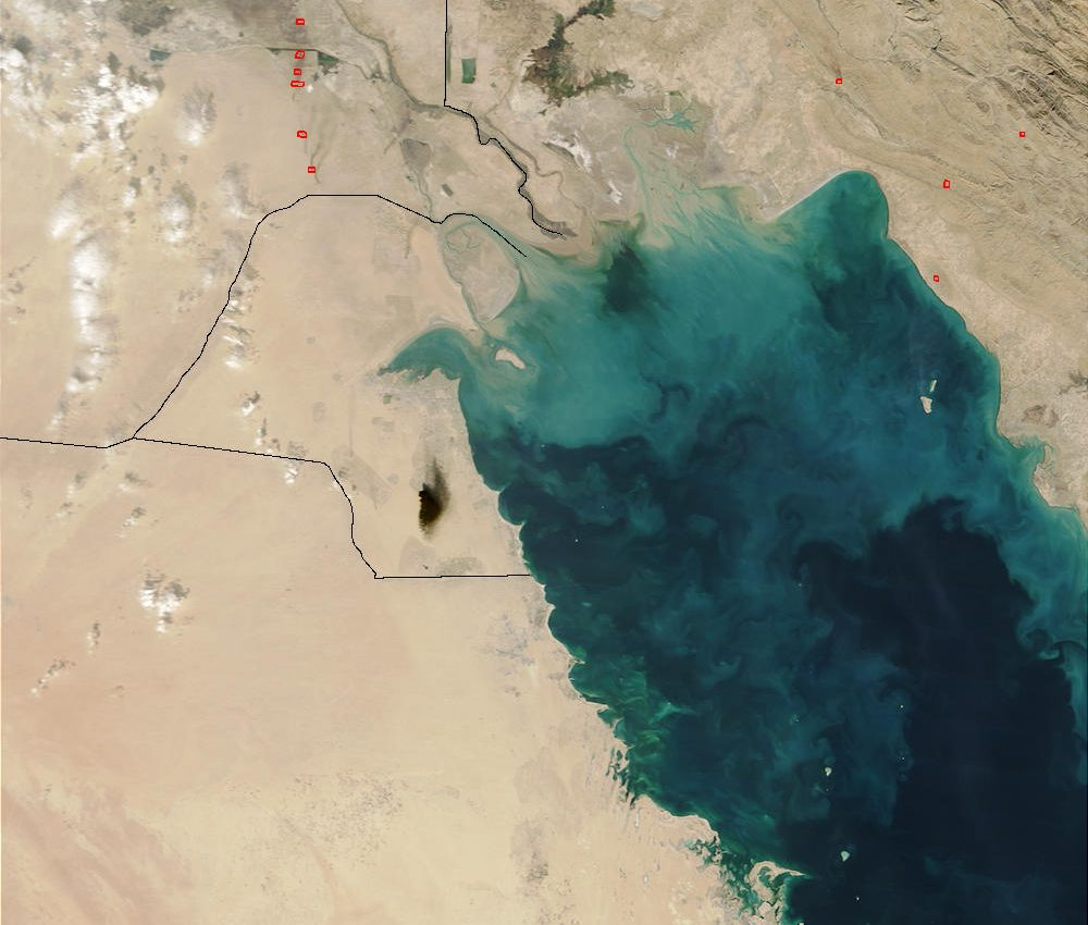Oil Smoke in Southern Iraq