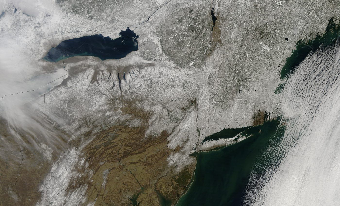 Late Snow in Northeastern United States