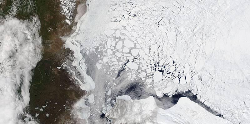 Blue Beaufort Sea Ice