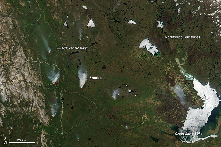 Fires in Northern Canada