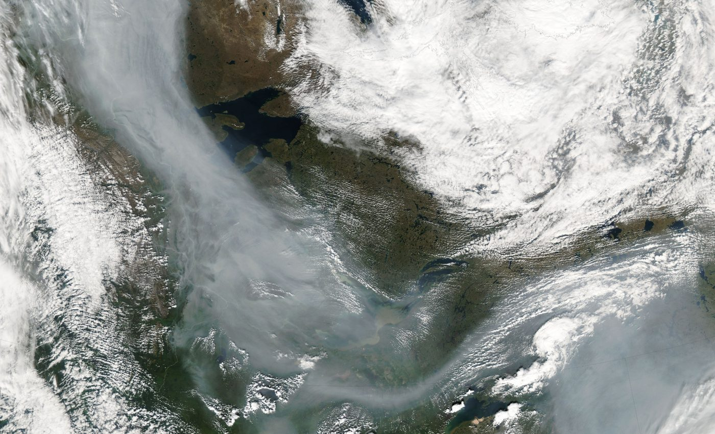 Fires and Smoke in Northwestern Canada