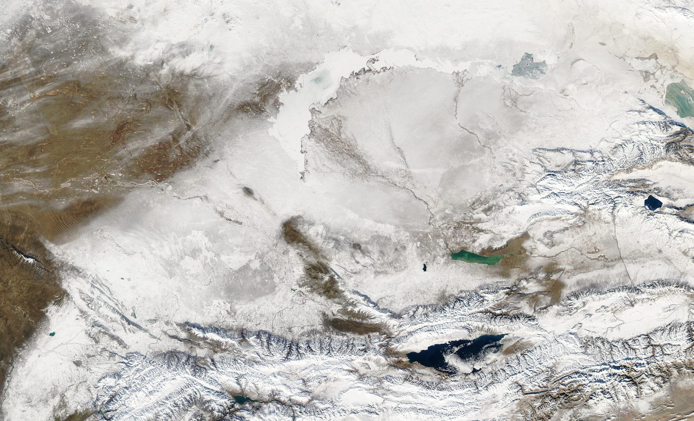 Snow Across Kazakhstan and Kyrgyzstan