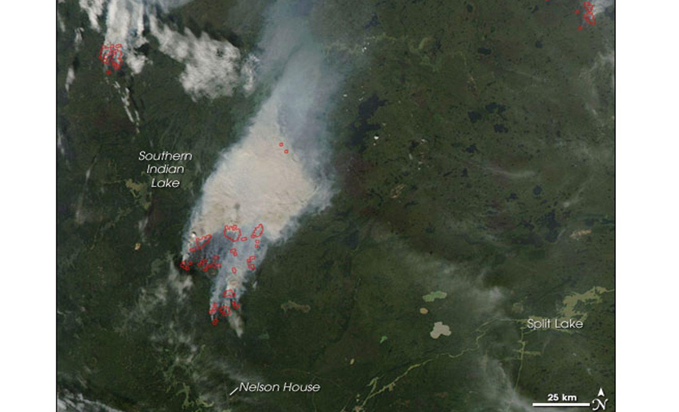 Fires in Manitoba