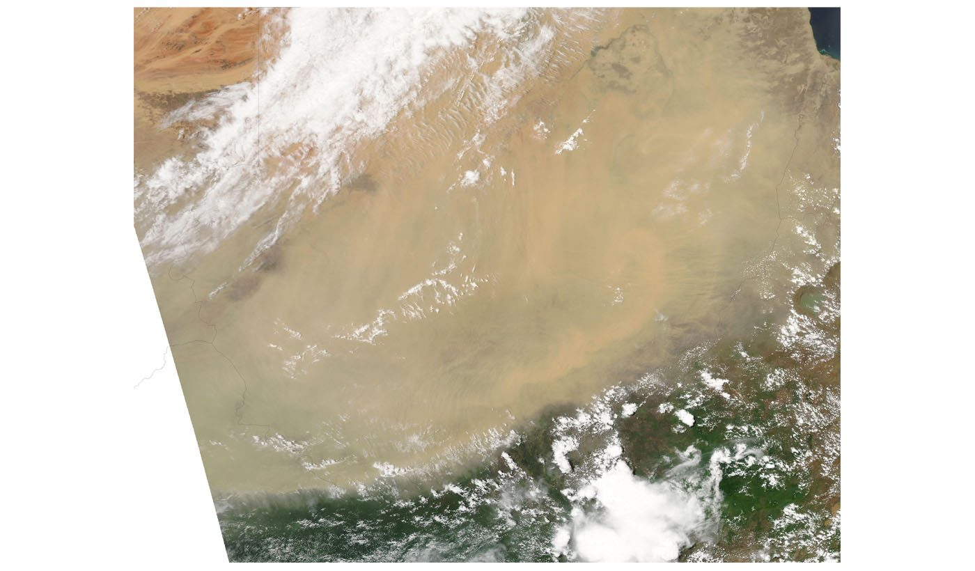 Dust Storm Over Sudan
