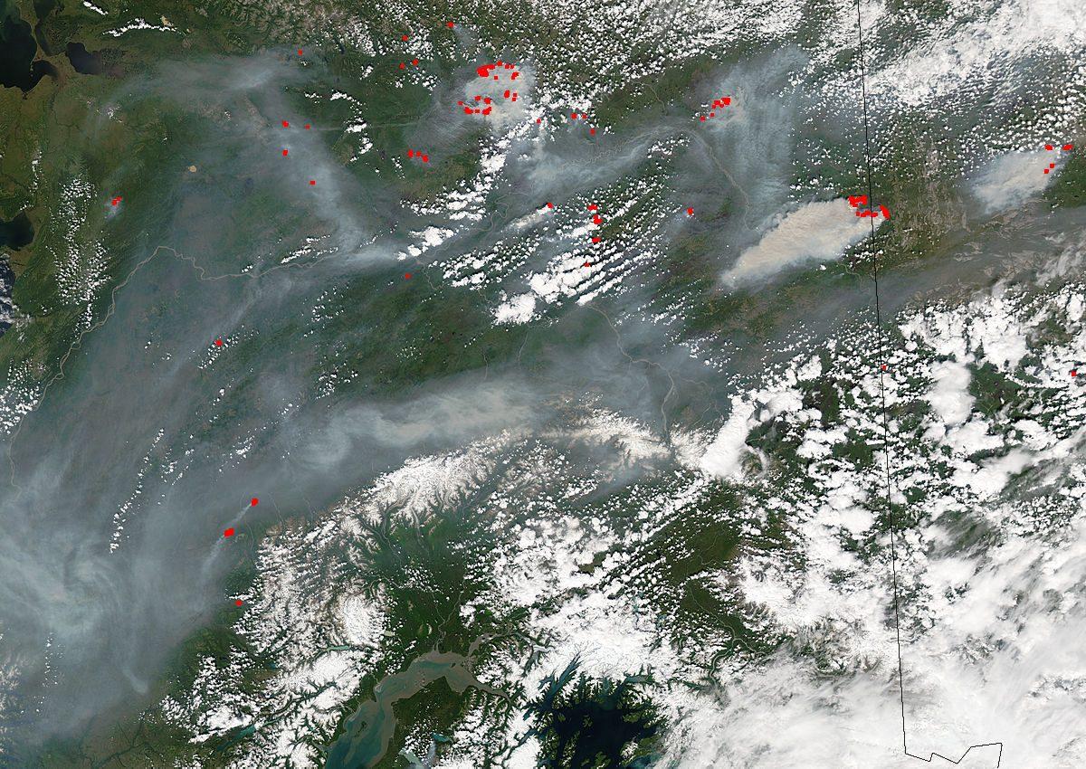 Fires in Alaska and Yukon Territory