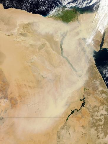 Dust Storm in Egypt and Sudan