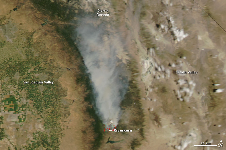 Bull Fire in California's Sequoia National Forest