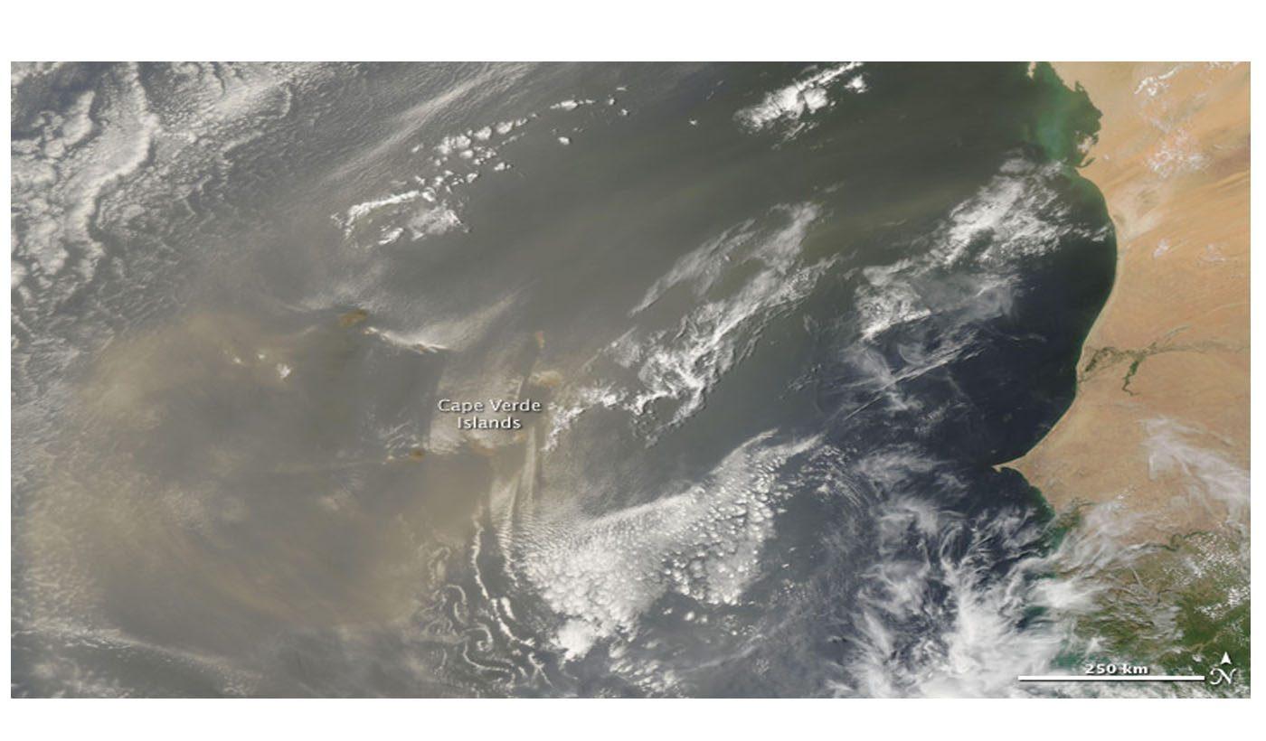 Saharan Dust Over the Cape Verde Islands